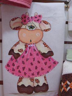 Elaine Strozi Pintura em Tecido: Pano de prato pintado!!!