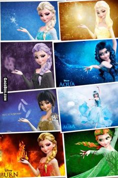 All versions of Disney Frozen Elsa ,
