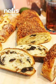 Walnut Olive Bread (Not Stale) - Delicious Recipes - Ekmek Tarifleri - Olive Bread, Turkish Kitchen, Savory Pastry, Happy Foods, Hot Dog Buns, Bread Recipes, Bakery, Brunch, Yummy Food