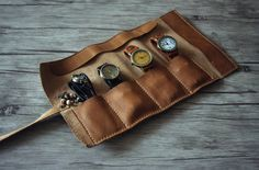 Hey, I found this really awesome Etsy listing at https://www.etsy.com/ru/listing/246522102/rustic-leather-watch-roll-case-leather