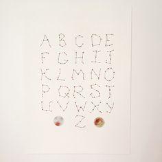 Constellation Alphabet - $30- follow @vintadesigns on Instagram for affordable original art!
