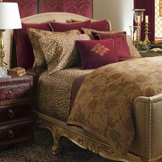 Ralph Lauren Venetian Court Tapestry Queen Duvet Comforter Cover Set New Gold Bedroom, Master Bedroom, Bedroom Decor, Bedroom Ideas, Comforter Cover, King Comforter, Queen Duvet, Into The West, Ralph Lauren