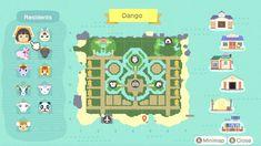 Nintendo Switch Animal Crossing, Village Map, Map Layout, Animal Crossing Guide, Motifs Animal, Island Map, Animal Games, Island Design, Map Design