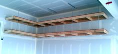 If you would like to build sturdy garage overhead mightyshelves as described in my earlier post here, but don't have attic space above your garage, one of several alternative hardware support metho...