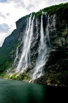 The Seven Sisters Waterfall - Geirangerfjord , Norway
