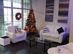Christmas Tree seating and Decor
