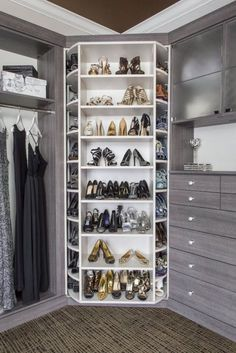 25 Luxury Closets for the Master Bedroom The best of luxury closet design in a selection curated by Boca do Lobo to inspire interior designers looking to finish their projects. Discover unique walk-in closet setups by the best furniture makers out there Walk In Closet Design, Bedroom Closet Design, Master Bedroom Closet, Closet Designs, Entryway Closet, Master Bedrooms, Closet Mirror, Diy Bedroom, Master Suite