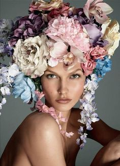 flowers in her hair. flowers everywhere. i love the flower girl... by brendaq