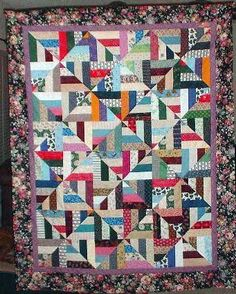 Strip Twist Quilt from Quiltville Custom Quilting. Darling pattern. Great for scraps. Can you see it in batiks?