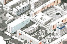 EVA LE ROI - Concours d\'urbanisme à Belgorod, Russie, avec les architectes Pierre Burquel, Benoît Burquel et Paul Mouchet.
