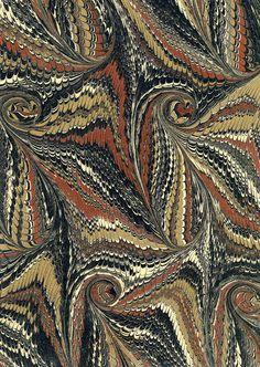 Marbling - Waterfall pattern...Sheaff-Ephemera