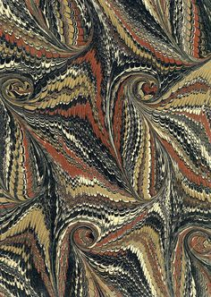 Marbled paper used in bookbinding