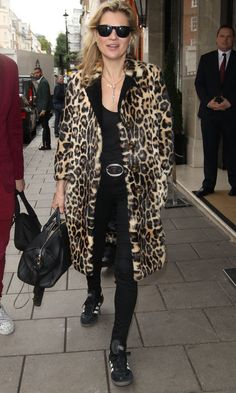 Kate Moss Channels Her Signature Style In Leopard Print