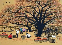 Chinese peasant painting