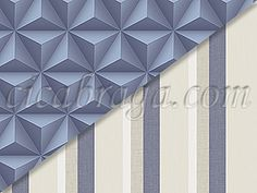Ciça Braga - Papel de parede   Papel de Parede Vinílico Diplomata Bobinex (Nacional) - Listrado (Creme/Azul Jeans/Off-White) - COLA GRÁTIS  - Combinação (composé) com DPM-3152