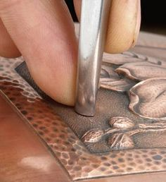 Chasing tools, chasing and repousse tools, hand wrought fabulousness!  Might have to try this someday