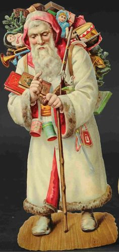 Christmas Scenes, Christmas Images, Christmas Art, Xmas, Santa Doll, Brown Paper Packages, Santa Baby, Vintage Santas, Old World