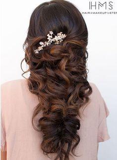 Bridal Hairstyles : 50 Incredible Long Wedding Hairstyles from Hair & Makeup by Steph | Deer Pearl F