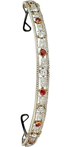 Yellow gold, platinum, nickel silver, rubies, diamonds, Cartier Paris, 1909
