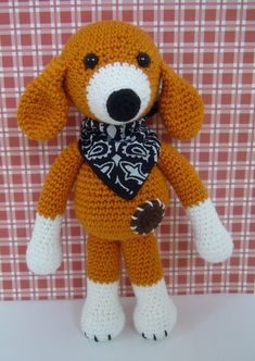 #haken, gratis patroon, amigurumi, hond, knuffel, #crochet, free pattern (Dutch), stuffed toy, dog