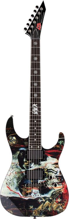"""LTD ESP CUSTOM M SLAYER SOUTH OF HEAVEN CONCEPT SIGNATURE ELECTRIC GUITAR  """"The World's No:1 Online Heavy Metal T-Shirt Store"""". Check it out our Metalhead Clothing and Apparel Store, Satanic Fashion and Black Metal T-Shirt Stores; www.HeavyMetalTshirts.net"""