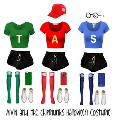 """Alvin and the Chipmunks Halloween costume"" by foreverunicorn15 on Polyvore featuring Converse, Casetify and MICHAEL Michael Kors"
