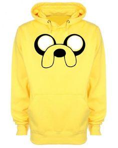 Jake the Dog Adventure Time Inspired Unisex Hoodie: Amazon.co.uk: Clothing