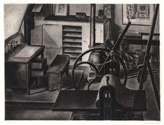 Armin Landeck (1905-1984) - Studio Interior No.1, 1935