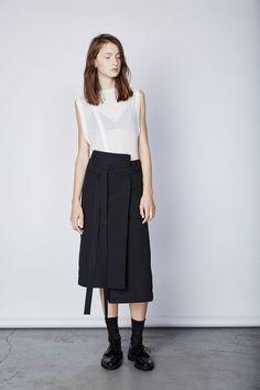 Asymmetric wrap skirt : Keta Gutmane
