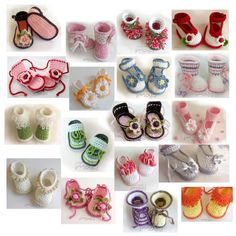 All my baby booties and boots crochet designs in one place! Great deal for crochet patterns with lots of color combination ideas for your precious