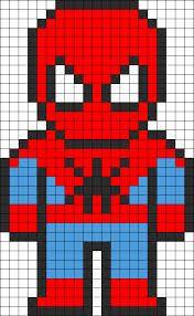 spiderman perler beads - Google Search
