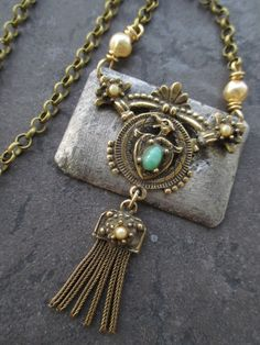 Nothing makes a statement like a unique OOAK piece that grabs attention and is memorable...and by combining a casual crocheted or knotted chain with