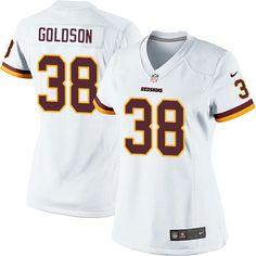 7a319ad0c Dashon Goldson Women s Elite White Jersey  Nike NFL Washington Redskins  Road  38