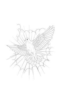 Lion Head Tattoos, Dove Tattoos, Forest Tattoos, King Tattoos, Cloud Tattoo Design, Wing Tattoo Designs, Sketch Tattoo Design, Tattoo Sketches, Half Sleeve Tattoo Stencils