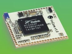 VoCore is open hardware and runs OpenWrt. It has WIFI, USB, UART, GPIOs but is only one inch square. It will help you to make your IoT project running in multitasking mode. Iot Projects, Robotics Projects, Arduino Projects, Diy Tech, Cool Tech, Diy Electronics, Electronics Projects, Linux, Raspberry Pi Alternatives