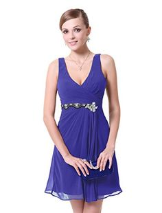 HE03728SB06, Sapphire Blue, 4US, Ever Pretty Dresses For Women 03728