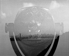 NYC Skyline Telescope Double Exposure photo Black by DWKNYPHOTO, $25.00