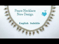 How To Make Peace Necklace - Design by Bulk . Beaded Beads, Beaded Braclets, Beaded Jewelry Patterns, Beading Patterns, Beaded Necklaces, Jewelry Logo, Jewelry Quotes, Bead Jewellery, Music Jewelry