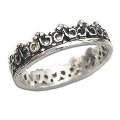 MSIRI007 Full Crown Ring Rings For Men, Crown, Sterling Silver, Bracelets, Closet, Jewelry, Charm Bracelets, Men Rings, Corona
