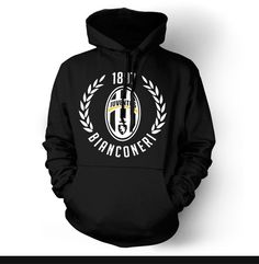 Show your passion and stay warm with this beautiful Juventus Hoody/Sweatshirt. - Gildan Heavy Blend - Classic Fit Hooded Sweatshirt - 50% Cotton / 50% Polyester - Air Jet Yarn = Softer Feel and reduce