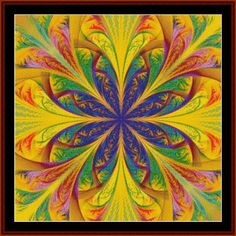 FR-496 - Fractal 496 - All cross stitch patterns - - Abstract - Fractals - Graphic Art - Whimsical - Cross Stitch Collectibles