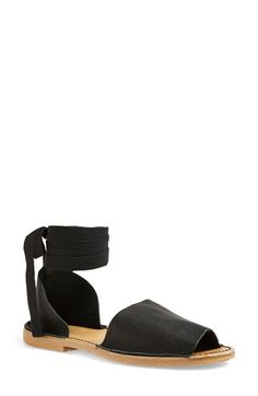 Topshop 'Feline' Wraparound Ankle Strap Sandal (Women) available at #Nordstrom. They also come in white!