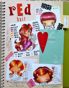 red hair - Mad for Markers blog: Copic Color Combos Journal
