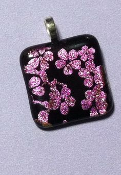 Cherry Tree Blossoms Pendant by JulieBsJewels on Etsy, $20.00