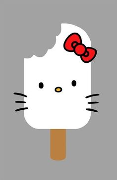 yummy...Hello Kitty Popsicle...