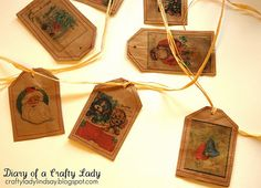 homemade brown paper bag gift tags