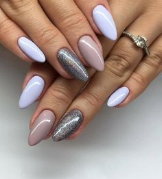 French manicure: Ombre French Manicure Design In Shades Of Beige: Today's nail art video is a Fade French Manicure tutorial using a makeup sponge. Cute Gel Nails, Cute Acrylic Nails, Acrylic Nail Designs, Love Nails, Nail Envy, Perfect Nails, Nail Manicure, Trendy Nails, Nails Inspiration