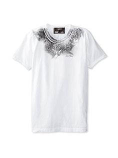 58% OFF Dom Rebel Men's Holy Crew Neck T-Shirt (White)