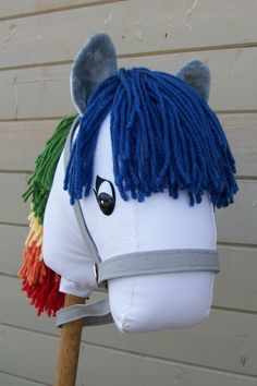 My cousin makes these AWESOME stick horses! With Easter coming up, it might be something to look into!     Punky Pony Rainbow Stick Horse