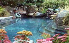 pond like pools | custom inground swimming pool eastern shore md- waterfalls, stone